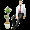¥0:安土さん, ¥1:観葉植物