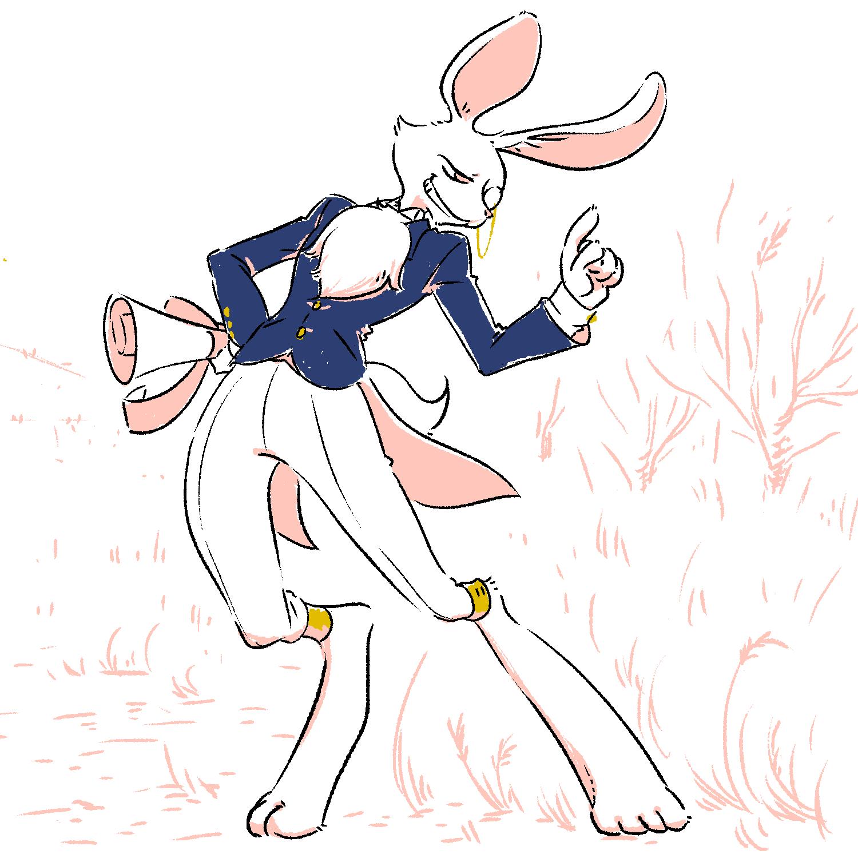 負けフラグビンビンに立ってるねこのウサギ