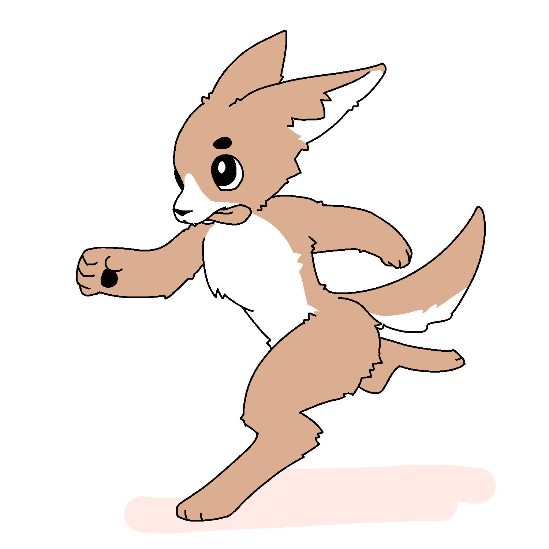 カツ丼わきの沢庵感覚で描いた犬