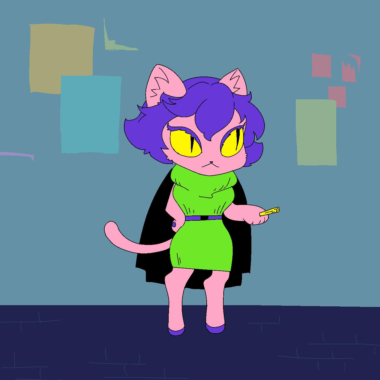 裏路地で手に持っているまたたびに火をつけると情報を教えてくれる系猫