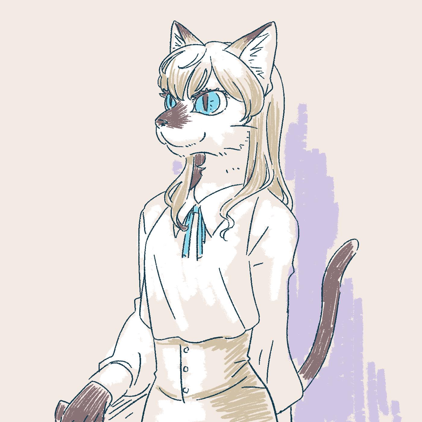 シールポイントの猫はお嬢様っぽく見える