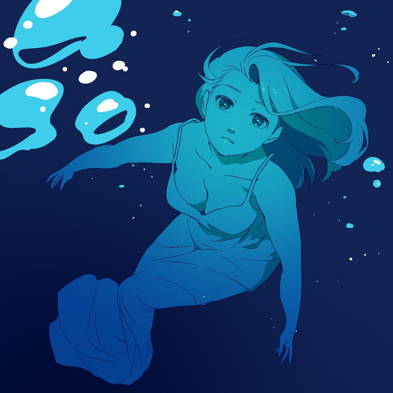 大きい曲線描きたいときに人物を水によく沈める