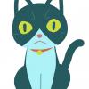 これは獣医の順番待ち中に描いたネコチャン