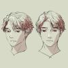 3Dモデルを参考にしつつの顔の練習