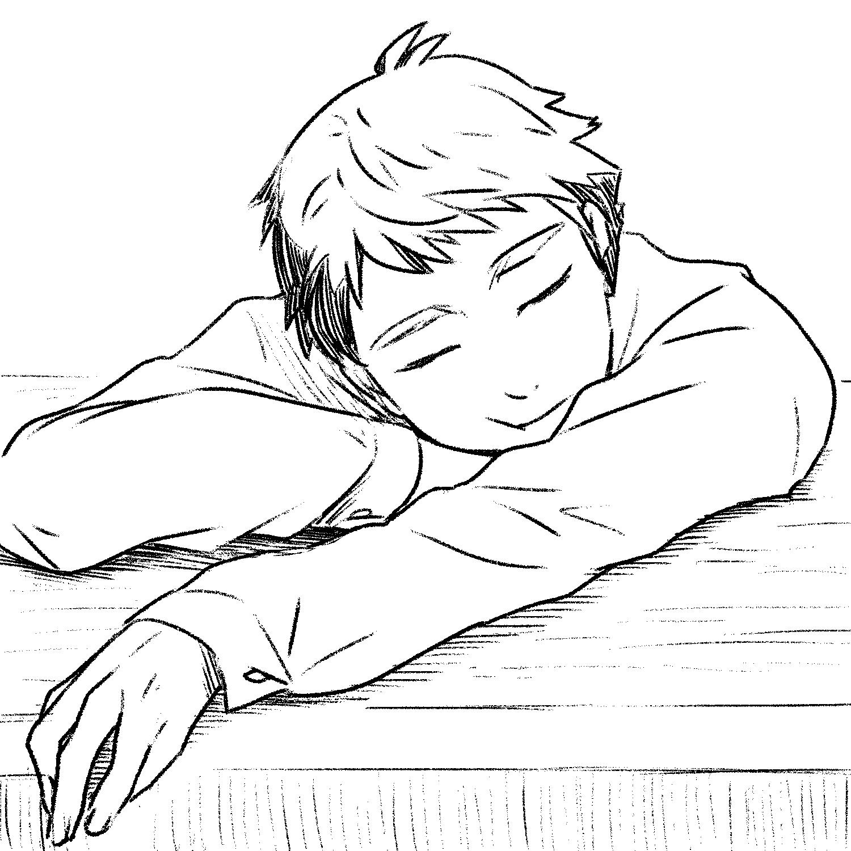 絶対こいつ昼休み寝てる