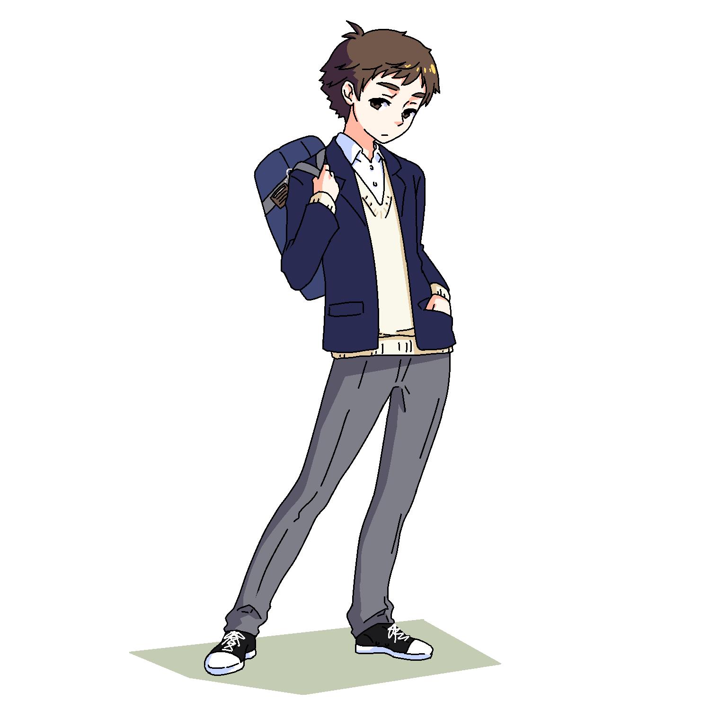 自分の高校の男子は学生服でした