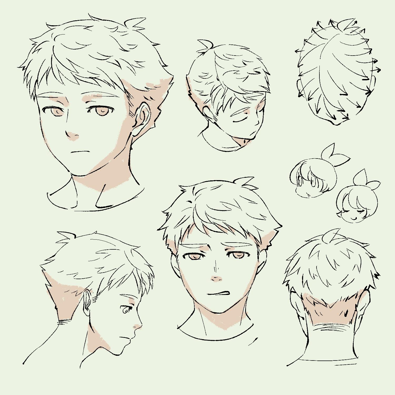 この人の髪型どうなってんの?って今頃思ったから、ここ何日かちまちま描いてたやつ