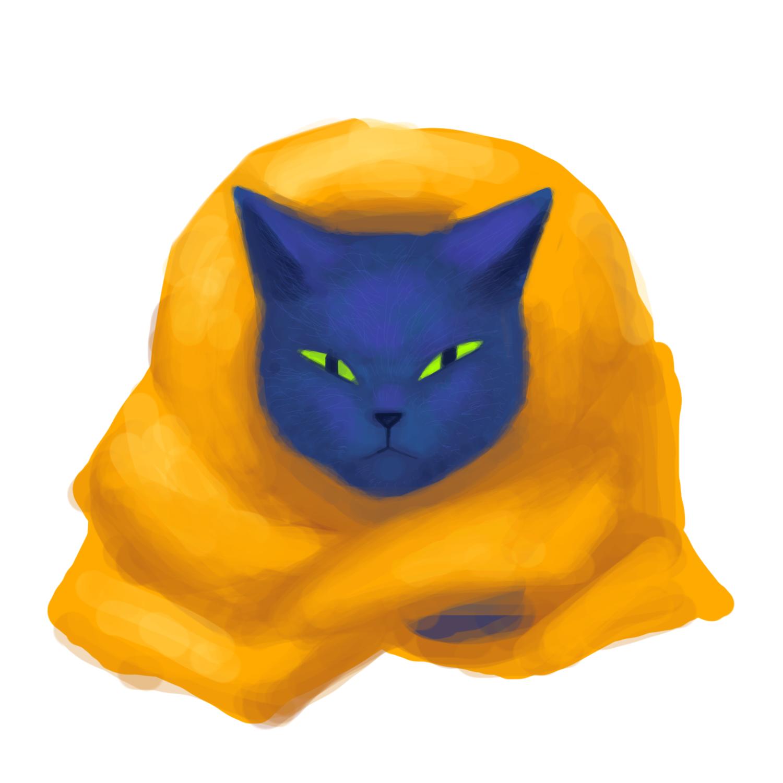 目つきのするどい猫2号