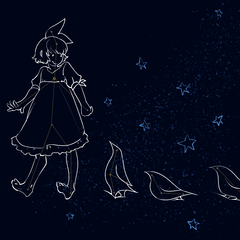 女の子とペンギン座